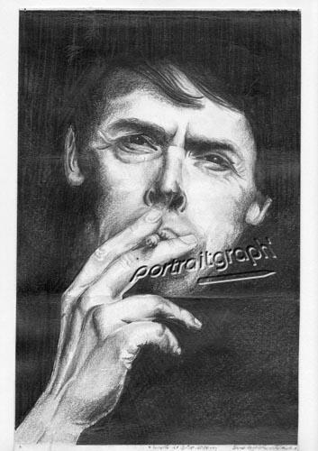 Jacques Brel by portraitgraph